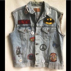 Levi's vintage sleeveless trucker jacket